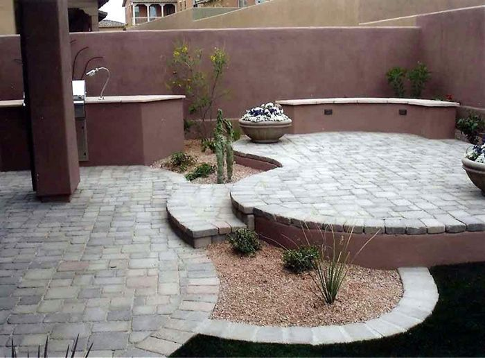 Rund Ums Haus, Wüsten Landschaftsbau Hinterhof, Landschaftsbau Ideen,  Kleiner Hof Landschaftsbau, Arizona Hintergartenideen, Hinterhof Layout,  Terassenideen ...