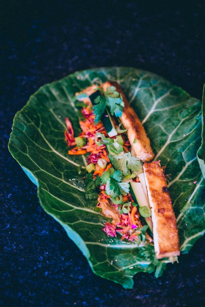 Tofu Banh Mi Collard Wraps Food Fitness Fresh Air