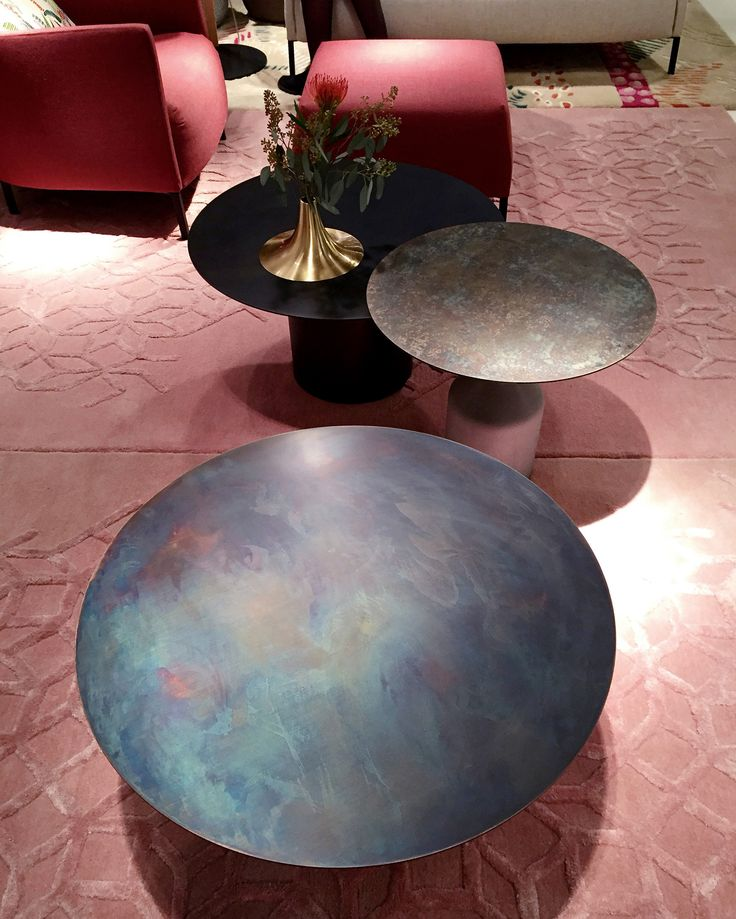 "COFFEE TABLES ""OXYDATION"" Manufactured by Ligne Roset Design by Kateryna Sokolova"