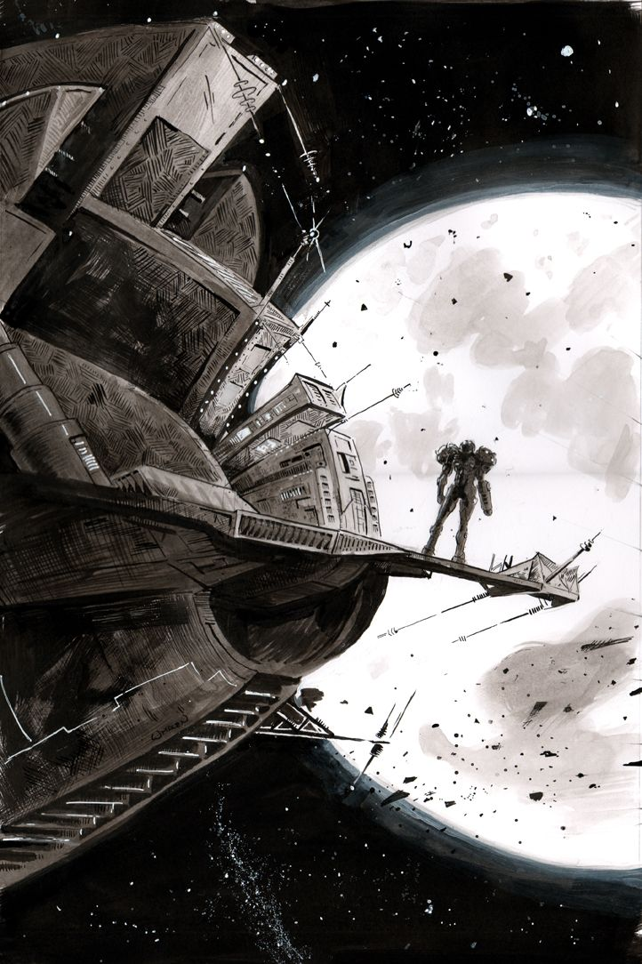 Metroid Prime by Erik Whalen . via: http://erikwhalen.tumblr.com/