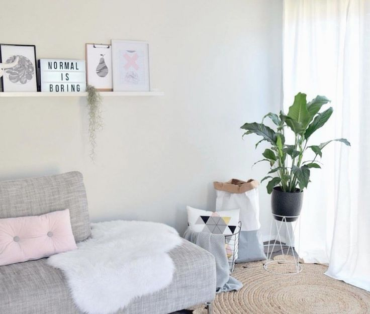 Kmart Sheep Skin Throw or Rug, wire basket, plant stand and lightbox by the style minimilist