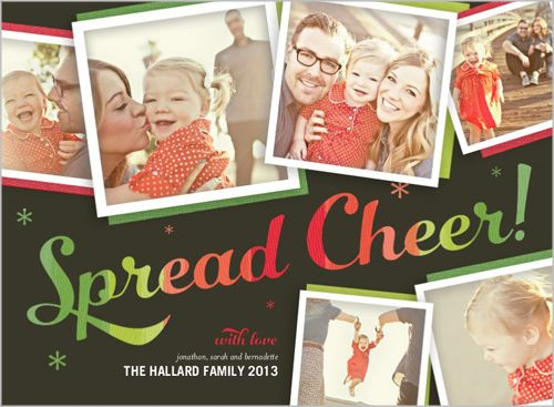 Spread the photos you love during the holidays and get friends and family excited | Spreading Cheer Holiday Card at Shutterfly.com