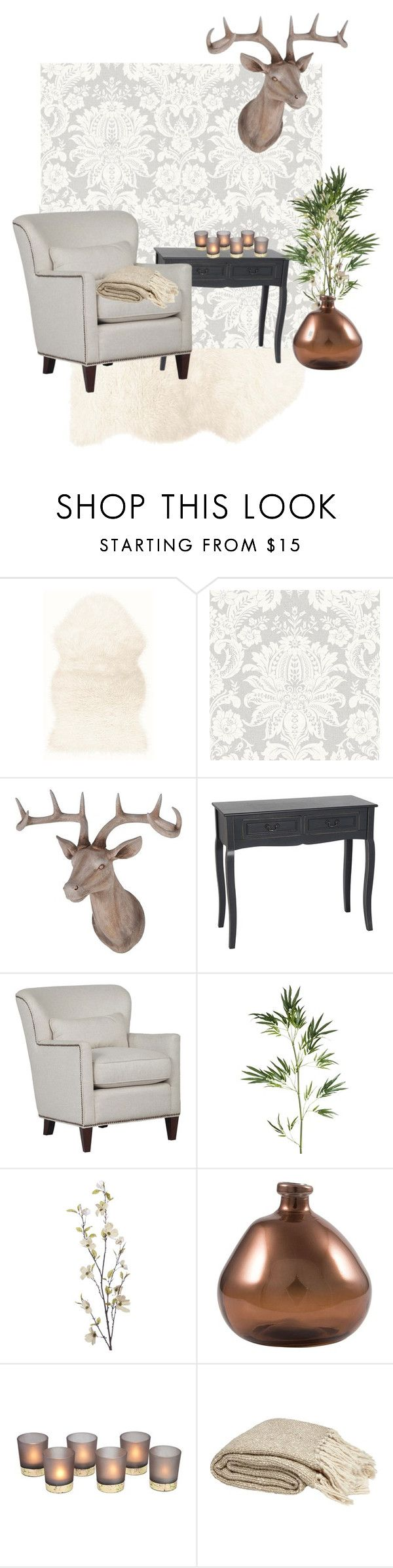 """""""Venetian Damask Living Room #1"""" by graham-brown ❤ liked on Polyvore featuring interior, interiors, interior design, home, home decor, interior decorating, Pier 1 Imports and living room"""