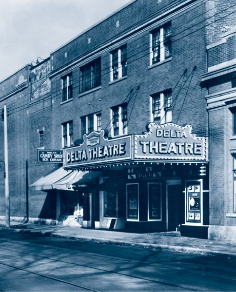 "Delta Theatre...Hamilton Ontario Canada...now  apts. and Pizza-place...so sad...remember seeing ""Song Remains The Same"" Led Zeppelin Movie...and Yes-Songs there...awesome...but never saw Rocky Horror Picture Show...too scared throwing toast lol...heard about it...so long ago:)<3"