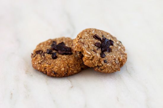 Winter Spice Almond Cookies with Cherries and Cacao Nibs