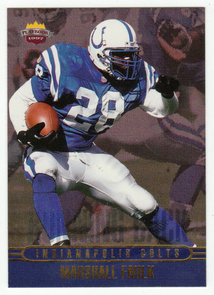 Marshall Faulk RB 4 1997 Score Board Playbook By The