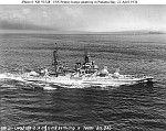 American super-dreadnought battleship USS Pennsylvania steaming in Panama Bay
