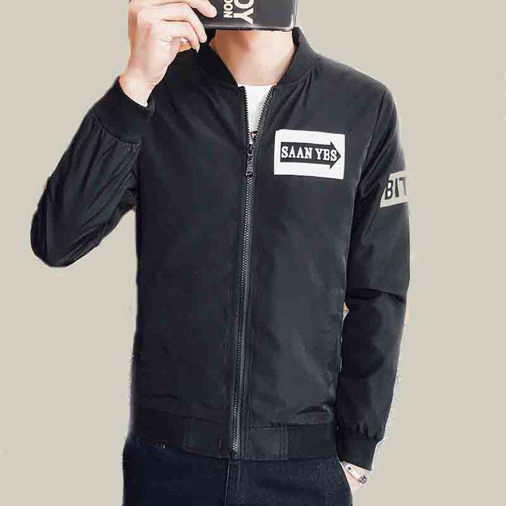 2017 new Jacket Men Parka Jacket Men print Letter Print Single breasted Coat Men Clothes Tide Brand bomber jacket #Affiliate