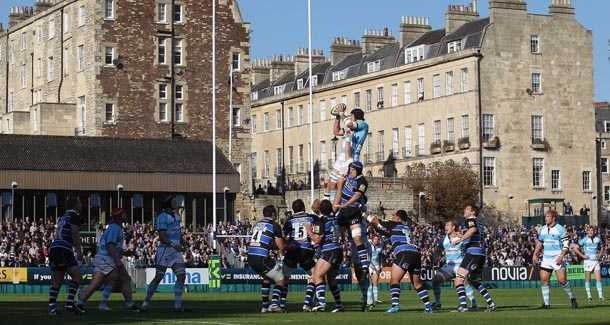 The Rec, home of Bath Rugby