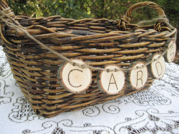 Rustic Wedding Decor Large Card Basket By Yourdivineaffair On Etsy 29 95