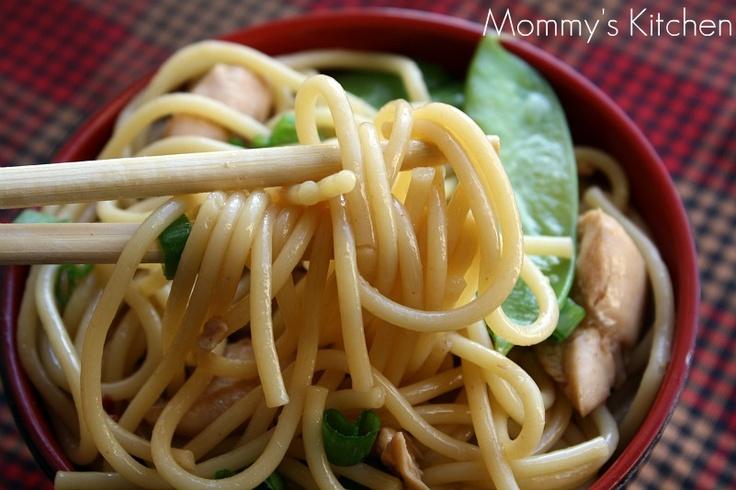 Mommy's Kitchen: Simple Sesame Noodles W/Chicken & Snow Peas