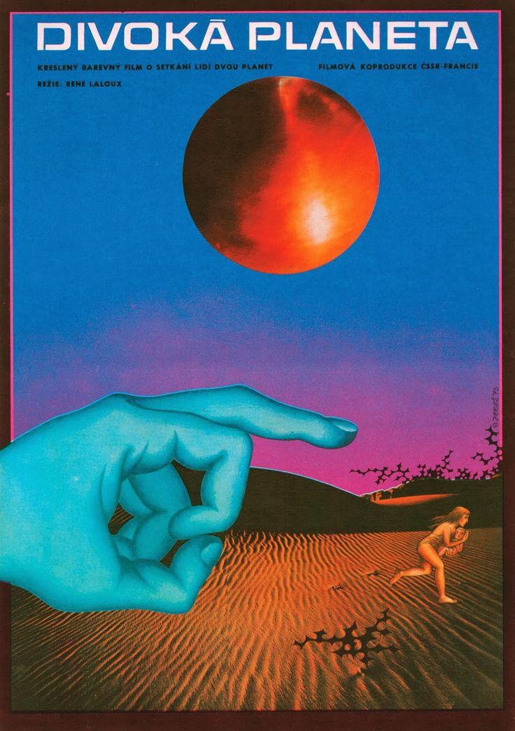 LA PLANETE SAUVAGE aka FANTASTIC PLANET (Dir. Rene Laloux, 1973) Czech poster