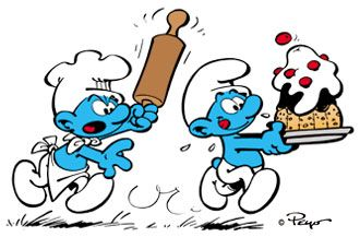 The Smurfs, by Peyo. Blue and Belgian.