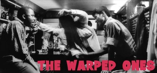 THE WARPED ONES 1960 movie on DVD.  Excellent quality. Widescreen. Oh man! What a crazy-excellent, be-bopping, juvenile delinquent film. Tamio Kawaji gives an incredible performance as Akira, a mentally and emotionally disturbed juvenile delinquent in a film that is still ahead of its time.