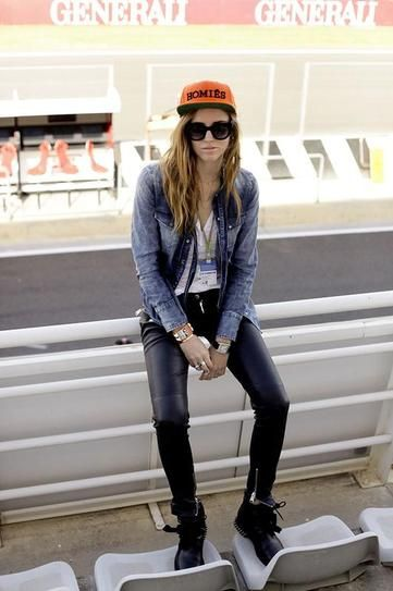 How to Wear a Denim Shirt This Summer | StyleCaster - chiara ferragni in a cool biker outfit