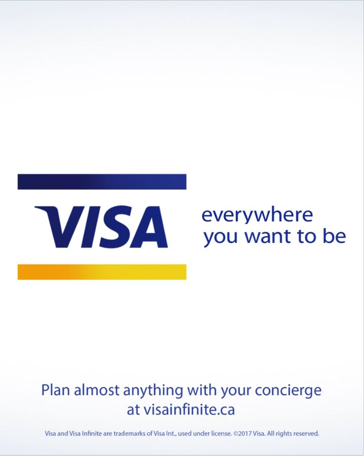If your card says Visa Infinite, you already have access to a complimentary concierge to help you plan almost anything. Contact your concierge.