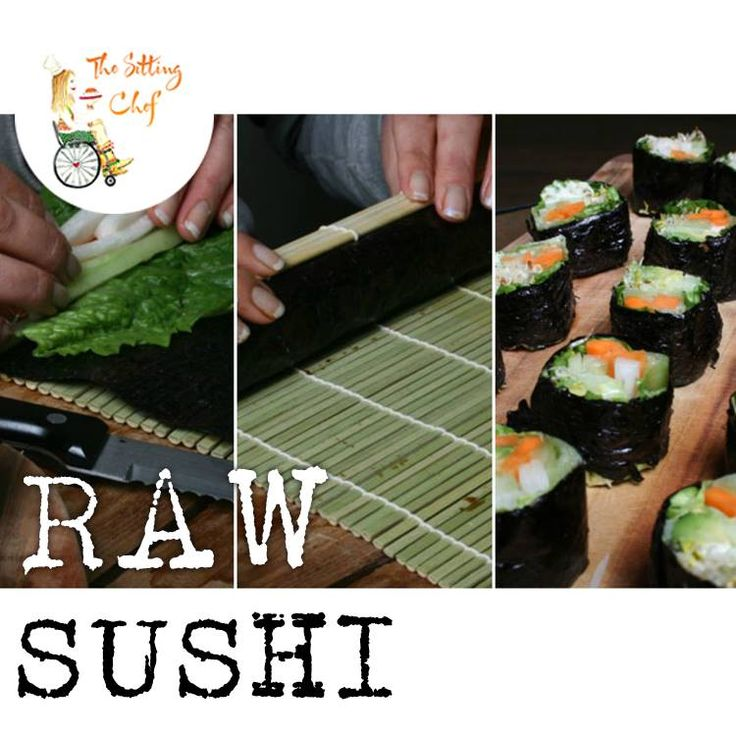 No-Rice Raw Vegan Sushi with clover sprouts,  lettuce, avocado, cucumber, celery root, and carrot. Só good and só healthy!