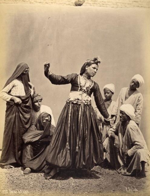 Dance Of An Almée [Photograph Of An Egyptian Female Performer] By Pascal Sebah, Circa 1875