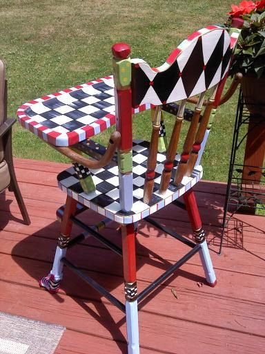 Custom  Hand Painted High Chair by paintingbymichele on Etsy, $250.00