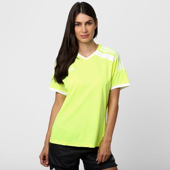 Camisa Feminina Adidas Regista 14 - Verde Limão