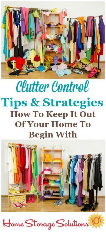 Clutter just seems to creep back into your home doesn't it? Here's clutter control tips and strategies you can use beginning today to keep the clutter out of your home and from accumulating further. {on Home Storage Solutions 101}