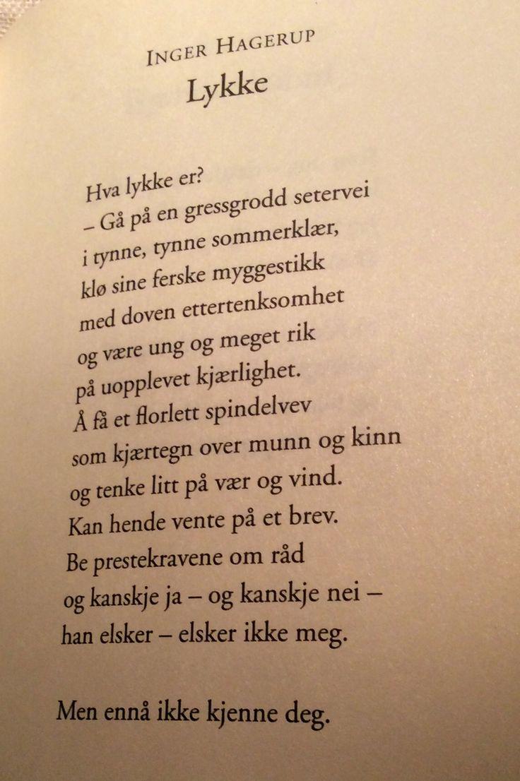 Av Inger Hagerup