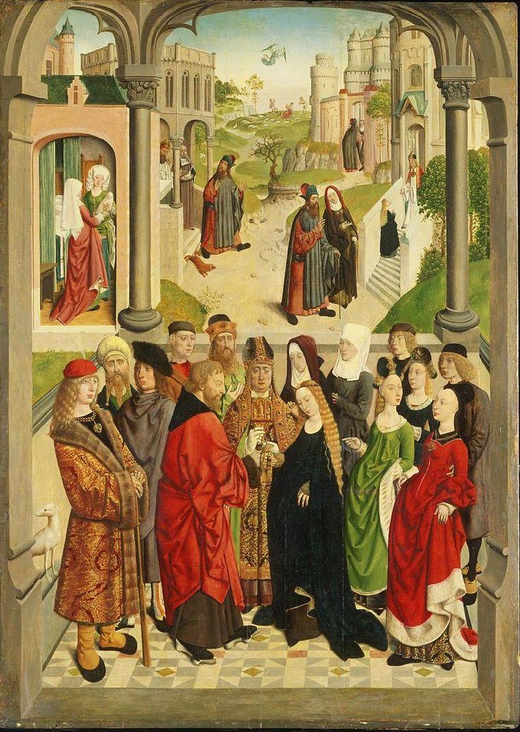 Meester van de Tiburtijnse sibylle, De bruiloft van Maria (Philadelphia Museum of Art