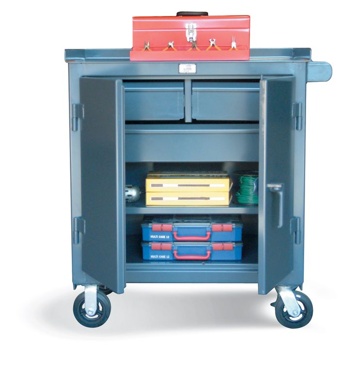 3 Drawer Tool Cart   Tool Cart With 2 Half Width Drawers 1 Full Width Drawer