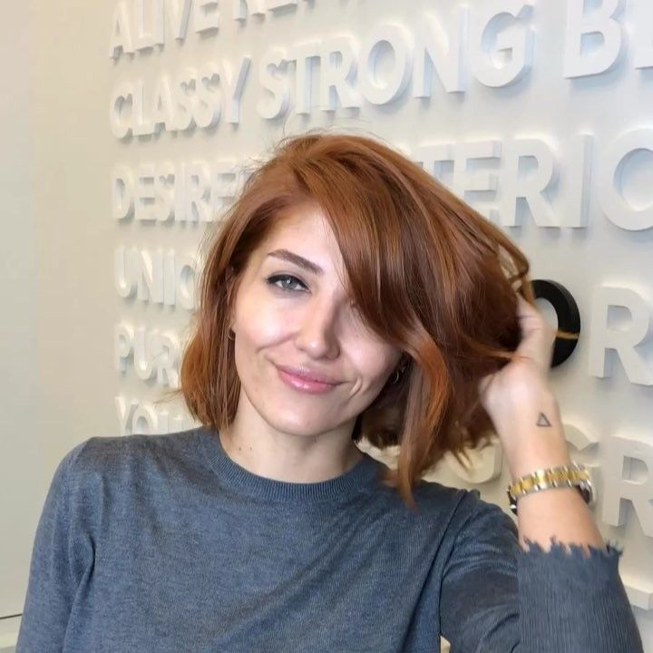 Emrah Demirci Emrahdemircii On Instagram Copper Bob Hair Color