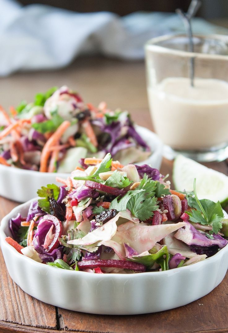 Recipe: Cabbage Slaw with Ginger-Tahini Dressing