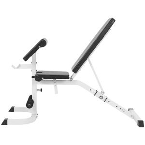 Gorilla Sports - Adjustable Incline/Decline Bench with Preacher Curl
