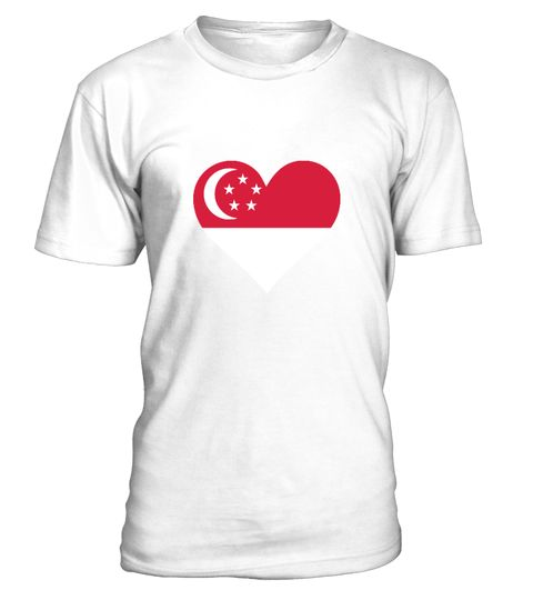 """# A heart for Singapore .  Get this BEST-SELLING T-ShirtCHECK OUT OUR SHOP!Guaranteed safe and secure payment with:Best quality on the market, great selection of colors and styles!Singapore is an island and city state and the smallest country in Southeast Asia in terms of area. The name """"Singapore"""" is derived from the Sanskrit and is composed of Singha (Lion) and Pura (city).(Republic, Flag, Asia, Indochina, Malaysia, colony, Commonwealth, harbor, chinese, island)"""