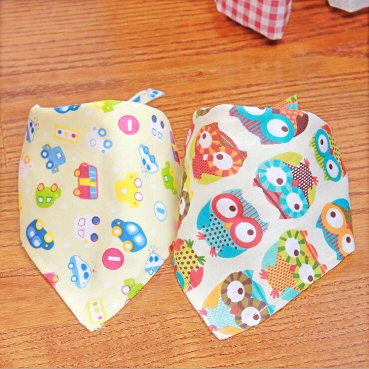 Di alta Qualità Baby Girl Boy Kids Cartoon Modello Toddler Neonati Impermeabile Triangolo Cotone Saliva Asciugamano bambino Bavaglino Dribble Busbane Francesi