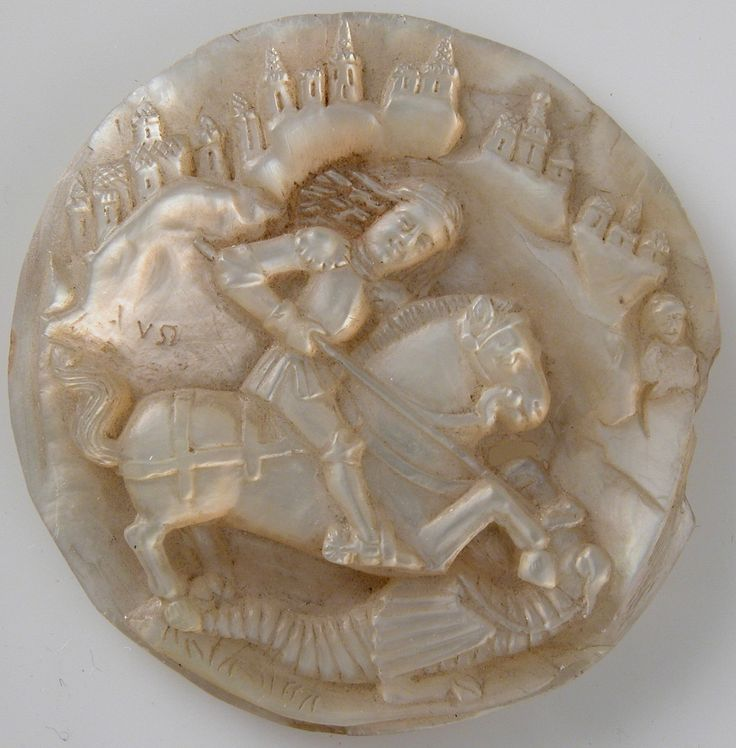Medallion with Saint George Slaying The Dragon.  Date:     late 15th century…