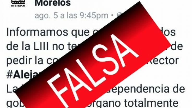 Usan cuenta de Facebook apócrifa, para exonerar al rector