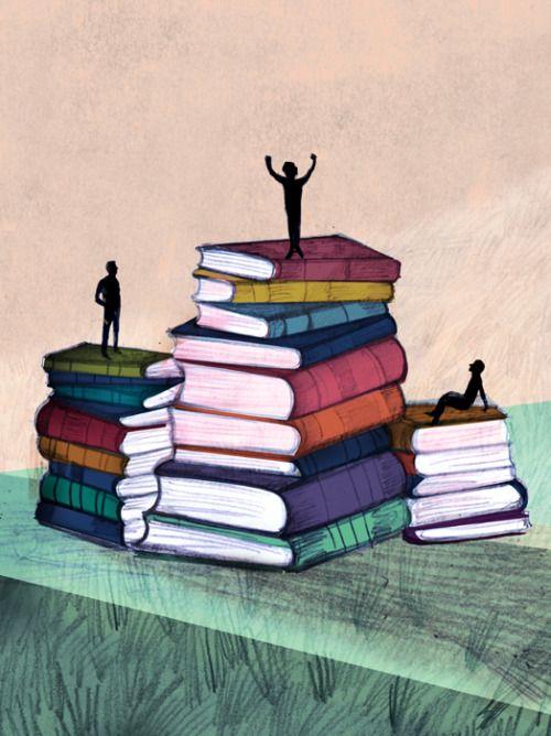 También hay campeones en la lectura (ilustración de Adolfo Serra)