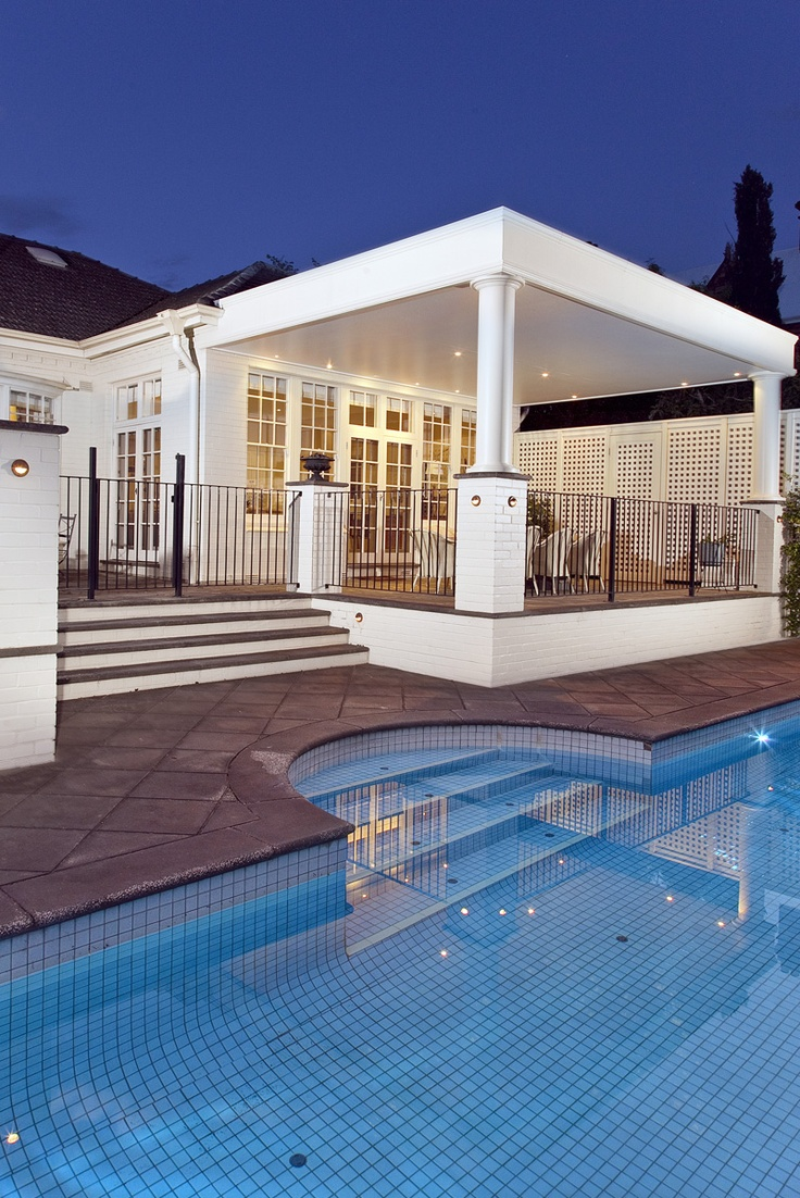 What an exceptional entertaining area set under cover and above the pool