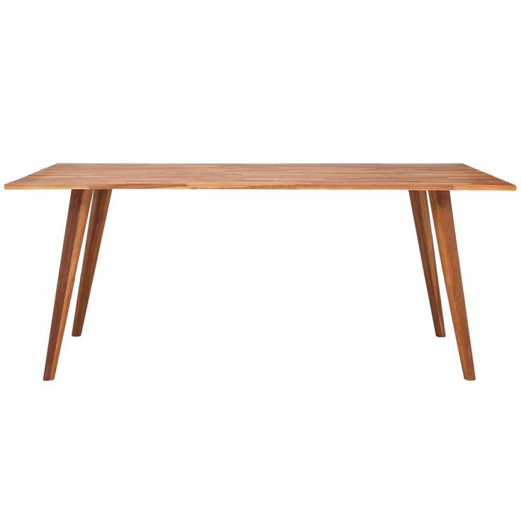 vidaXL Jedálenský stôl z masívneho akáciového dreva, hnedý