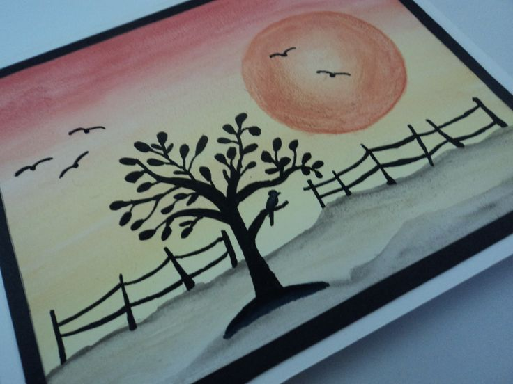 This is an elegant handmade card with a watercolour painting on the front that is perfect for your friends and family.