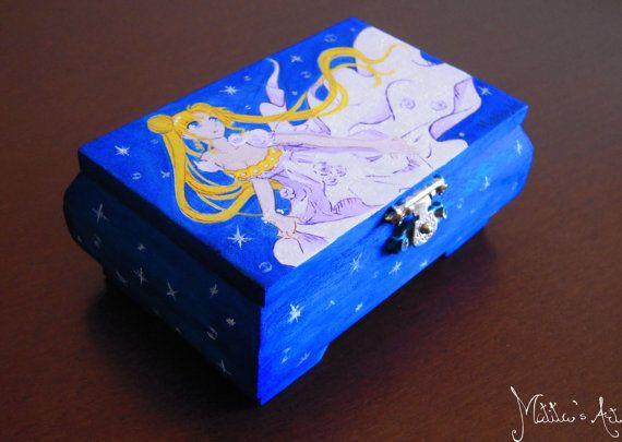 Sailor Moon hand painted box by Matita's Art