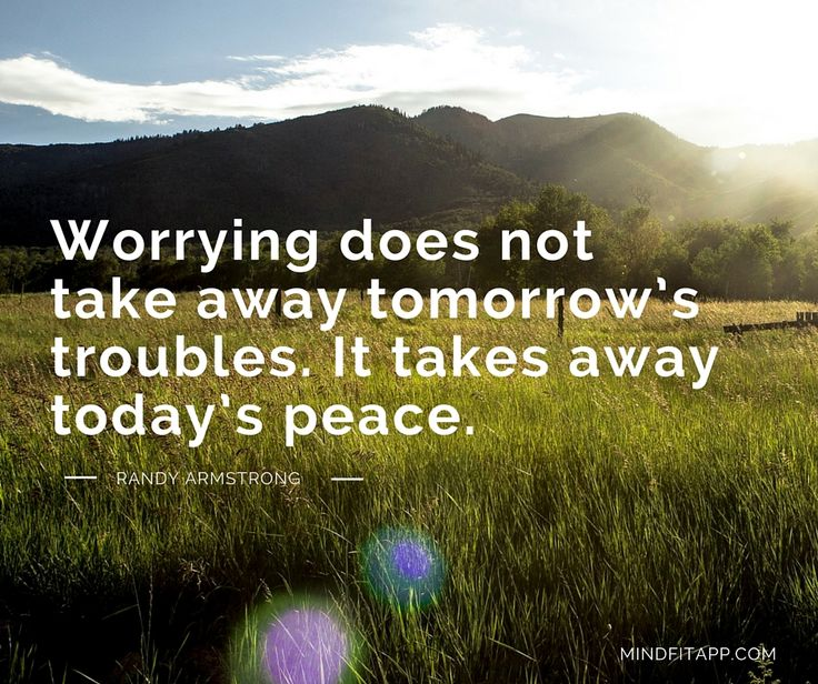 It's normal to worry, but is it useful? http://bit.ly/1jIFqf6