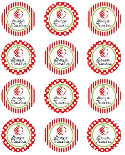 etichette rotonde perfette per vasetti di marmellate