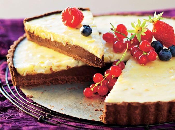 ¿Chocolate negro o chocolate blanco? ¡Yo me quedo con los dos! Mira la receta en http://mx.hola.com/cocina