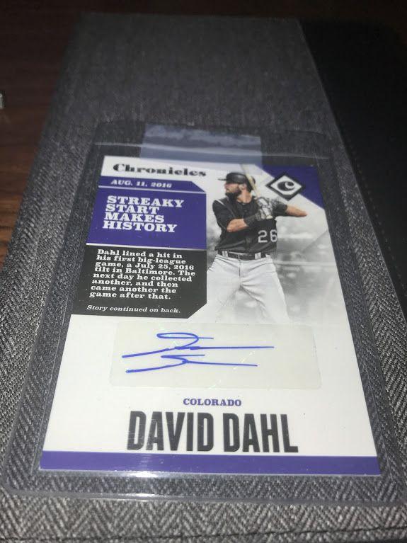 Dahl Autograph.
