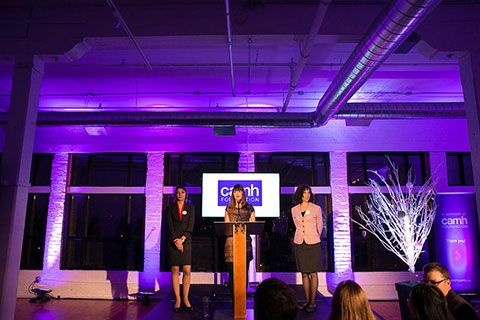 Two of the research finalists at CAMH's Breakthrough Challenge: Dr. Faranak Farzan and Dr. Yona Lunsky