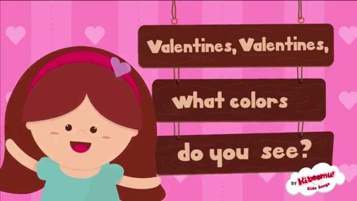 Valentine's Day Songs for Children | Valentine Color Songs for Kids | Va...