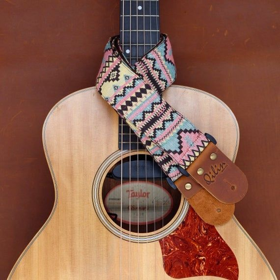 Pink Blue Woven Guitar Strap Qilinlibrary Leather Qilin Handcraft Strap Guitar Guitarstrap Guitarlover Gen In 2020 Guitar Guitar Strap Acoustic Guitar Lessons