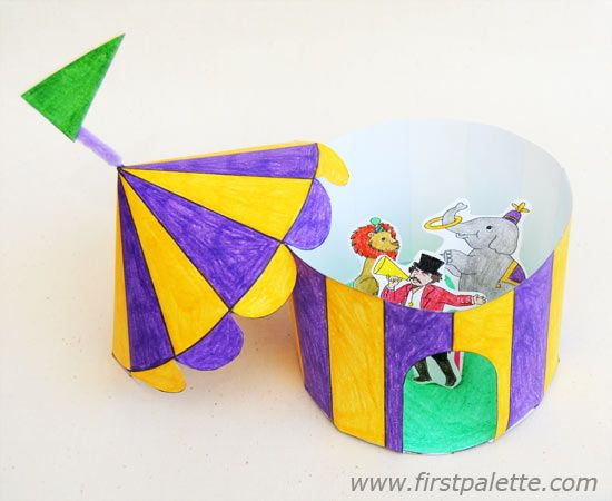 Step 10 Paper Circus Tent craft