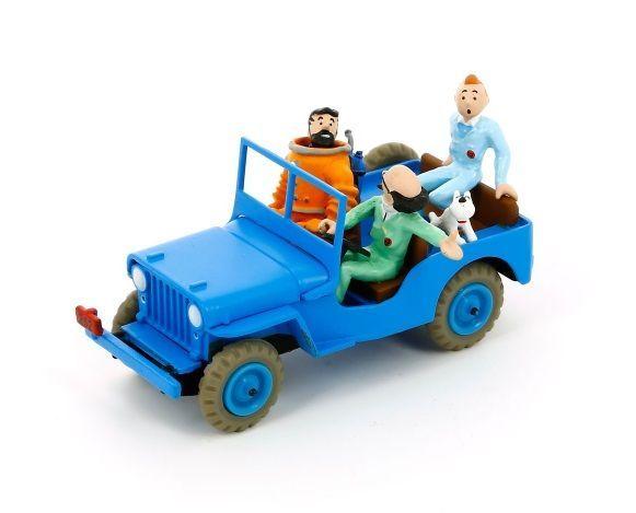 Kuifje auto: Blauwe jeep Raket naar de maan