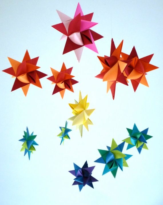 Baby Mobile Hanging Origami Stars 'Ursa Minor' von theStarcraft, $29.00